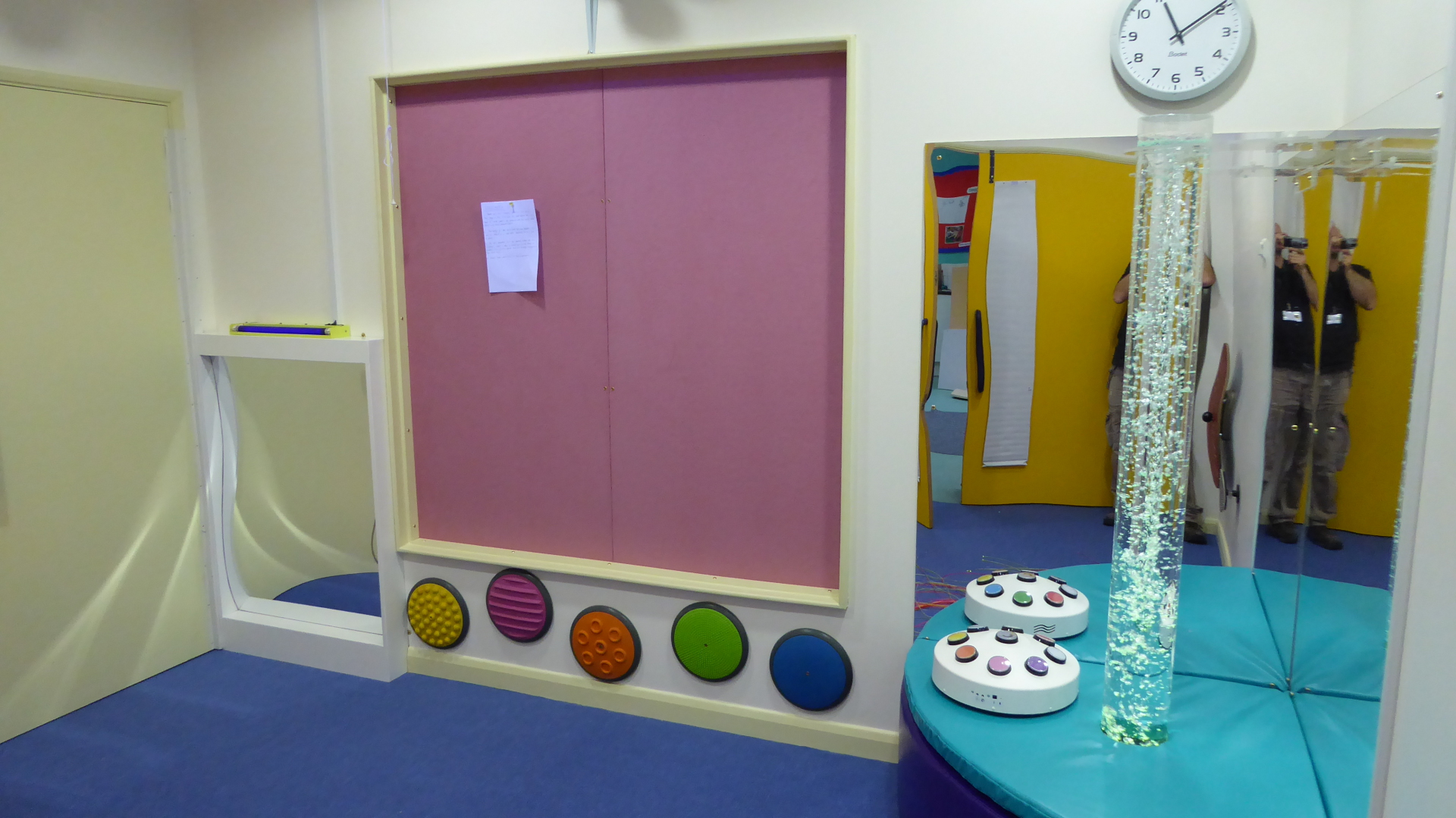 After - The old window transformed into a beautiful new pin board